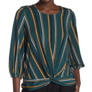 Adrianna Papell Twist Front Knit Top